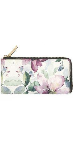 Ladies Wallet Purple Flower.