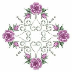 Pearl Roses Quilt 8, 6 - 3 Sizes! | What's New | Machine Embroidery Designs | SWAKembroidery.com Ace Points Embroidery