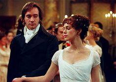 """Keira Knightley e Matthew MacFadyen em ORGULHO E PRECONCEITO (Pride and Prejudice). 1-""""Eu teria perdoado a sua vaidade se ele não tivesse ferido a minha."""", 2-""""Tudo isso me faz acreditar que o Sr. seria o último dos homens do mundo com quem eu me casaria. """", 3-""""Que são os homens, comparados com rochedos e montanhas?"""" , 4-""""Somos todos uns tolos, quando nos apaixonamos."""", 5- """"- E o que você recomenda para cultivar afeição?  - Dançar, mesmo que o par em questão seja apenas tolerável."""""""