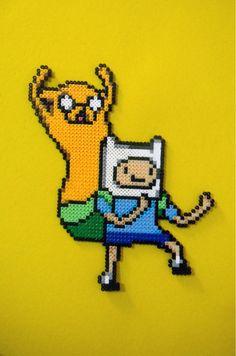 Aventure Time Finn and Jake Perler Beads by emelyjensen on deviantART