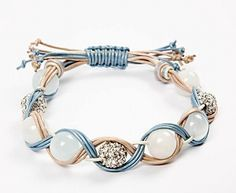 11222 Flechtarmband mit Perlen