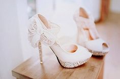 I will find my wedding shoes first and then a matching wedding dress lol! These are the perfect wedding shoes thisgirly Perfect Wedding, Dream Wedding, Wedding Day, Lace Wedding, Bling Wedding, Wedding White, Wedding Anniversary, Wedding Ceremony, Reception