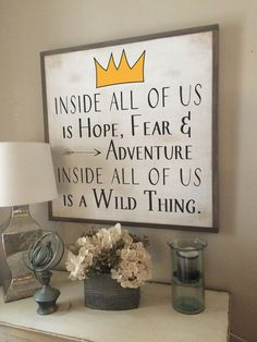Show off your love for the beloved children's book Where The Wild Things Are by displaying this classic book quote in your kid's room!