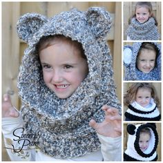 Un'bear'ably Cute Cowl! Crochet pattern by Sincerely Pam available September 27th! www.craftsy.com/user/497620/pattern-store www.ravelry.com/designers/sincerely-pam
