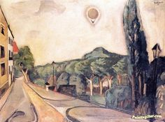 Landscape with Balloon Artwork by Max Beckmann Hand-painted and Art Prints on canvas for sale,you can custom the size and frame