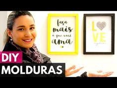 Molduras/Quadros decorativos de papel |DIY - Faça você mesmo - YouTube