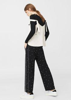 Polka-dot trousers | MANGO