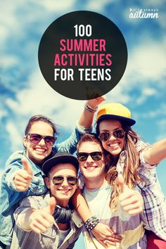 Got bored teens or tweens? Find 100 FUN summer activities for teens right here! Great summer ideas for middle school through high school aged kids. Summer Activities For Teens, Games For Teens, Camping Activities, Family Activities, Autumn Activities, Camping Ideas, Friend Activities, Summer Games, Camping Checklist