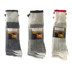 Kodiak® Men's 3-Pair Pack of Wool Work Socks