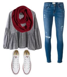 """""""Untitled #82"""" by mayaali on Polyvore featuring Frame, prAna and Converse"""
