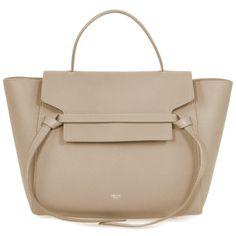 5c092ef403a1 Celine Celine Taupe (Brown) Grained Calfskin Leather Medium Belt Bag Brown  Purses