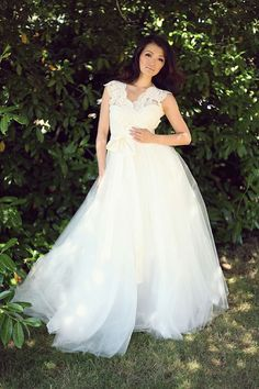 Eco Couture Wedding Gowns ✈ Pure  www.promgirlau.com