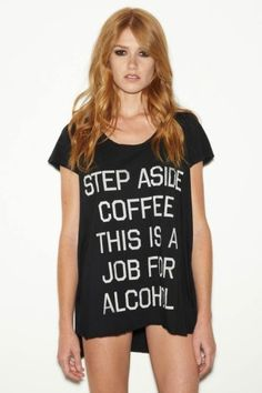 Rebel Yell Step Aside Coffee Pocket Tunic.                                             Summer Fashion. Tunic. Party. Swimsuit Coverup. Perfect.