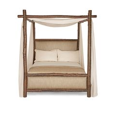 Rustic Canopy Bed #4540-4546 - Traditional Transitional Rustic / Folk Organic Beds - Dering Hall