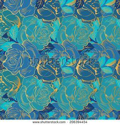 Decorative element with roses. Seamless floral element. Vector pattern.