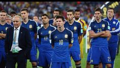Argentina team disappointed after World Cup 2014 , Argentina vs. Germany game