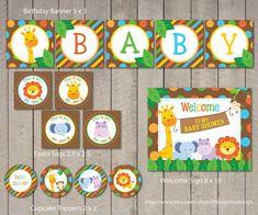 Safari Baby Shower Package / Safari Baby by LittleApplesDesign, $12.00