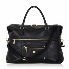 "Alice 15"" Tote Black Leather - to make going back to work after maternity leave a little more stylish than my nappy/diaper bag"