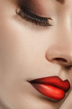 Red Ombre Lips. Hmmm, I am intrigued...  perfect lips.