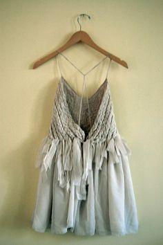 braided dress // size 8 por yuyushiratori en Etsy