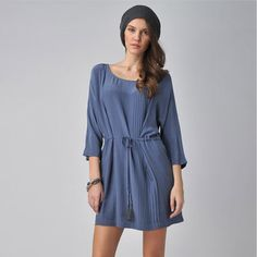 Kinda really liking this, tho whats up with this expensive prices?!  Kimberly Front Tie Dress Blue, $85, now featured on Fab.