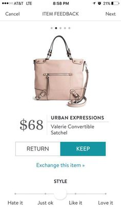 Stitch Fix Urban Expressions Valerie Convertible Stachel