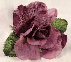 Velvet Chiffon Rose Plum Color Millinery Bridal Corsage Wedding Crafts 4 inch   Home & Garden, Wedding Supplies, Flowers, Petals & Garlands   eBay!
