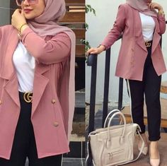 and classic hijab outfits – Just Trendy Girls Modest Fashion Hijab, Modern Hijab Fashion, Hijab Fashion Inspiration, Hijab Chic, Muslim Fashion, Mode Inspiration, Mode Outfits, Fashion Outfits, Style Fashion