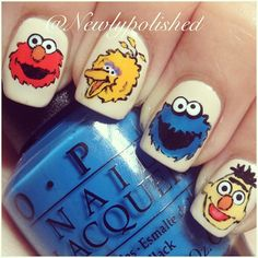 Wish I could do these on my lil girl, but she loves Elmo so much, she would probably eat him.