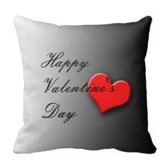 Valentine's Day Throw Pillows striking heart design.