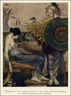 Athena, illustration by William Russell Flint from a version of The Odyssey of Homer