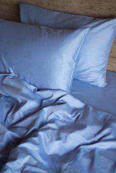 Blue Satin Cotton