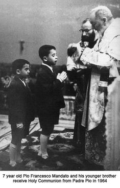 Close encounters with Padre Pio in the Confessional. Baptisms, Communions, Weddings