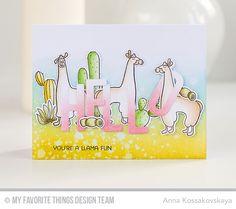 Llama Love Stamp Set and Die-namics, Big Hello Die-namics - Anna Kossakovskaya  #mftstamps