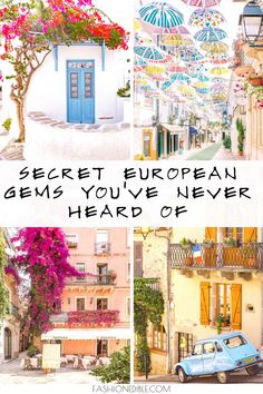 How many of these hidden gems in Europe have you heard of? Here are some of our favorite off-the-beaten-path European towns that are stunning and worth a visit! World Travel Guide, Top Travel Destinations, Europe Travel Guide, Amazing Destinations, Travel Plan, Budget Travel, Travel Guides, European Vacation, European Destination