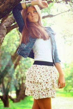 Vestidos y Faldas Combinaciones varias - Moda 2014                              Love love love this