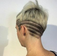 pixie with shaved designs