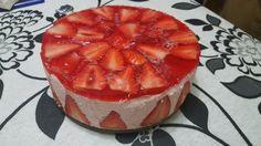 Receta pastel de fresas con crema de queso y gelatina