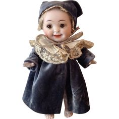 Wonderful antique all bisque Googly doll, possibly Kestner 7.5 inches from doradolls on Ruby Lane