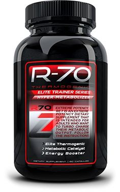 R70 Thermogenic Diet Pill, Fat Burner and Weight Loss Supplement For all Body Types, Garcinia Cambogia, CLA, African Mango, and more For Men and Women, 60ct pills #amazon #affiliate