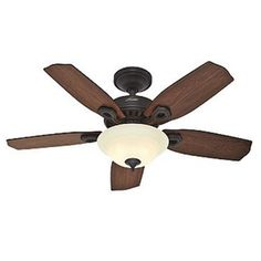 Auberville 44 5 Blade New Bronze Ceiling Fan with Light