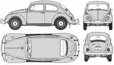 Volkswagen Beetle 1300 blueprints, vector drawings, clipart and pdf templates Auto Volkswagen, Volkswagen Beetle, Vw T1, Beetle Drawing, Vw Baja Bug, Vw Cars, Car Sketch, 3d Models, Vw Beetles