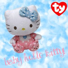 NEW Hello Kitty baby pink with blue bow!