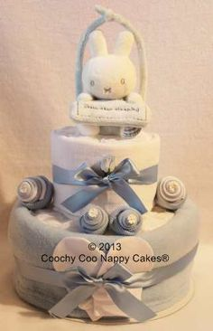 Boys Blue Miffy Nappy Cake by Coochy Coo Nappy Cakes®