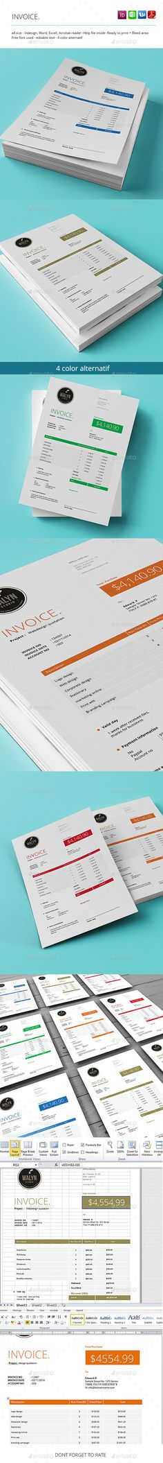 SEO Report / Proposal Template - A4 Landscape Seo report, Proposal - graphic design invoice sample