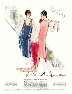 vintage Vogue patterns - via Ruche 20s Fashion, Fashion Photo, Fashion Art, Vintage Fashion, Fashion Design, Flapper Fashion, Paris Fashion, High Fashion, Fashion Illustration Vintage