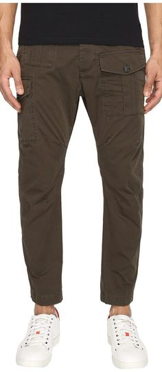 DSQUARED2 Sexy Cargo Pants (Military Green) Men's Casual Pants - DSQUARED2, Sexy Cargo Pants, S74KB0016-S41796-710, Apparel Bottom Casual Pants, Casual Pants, Bottom, Apparel, Clothes Clothing, Gift, - Fashion Ideas To Inspire