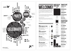 Infographic Wedding Invitations, Posters and Welcome Letter