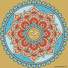 Lotus Om mandala - Pinned by yogafleurdelotus.com