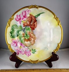 Pair of GDA Limoges Hand Painted Artist Signed Floral & Gold Plates Signed | Pottery & Glass, Pottery & China, China & Dinnerware | eBay!